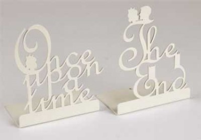 Once Upon a Time & The End Bookends IVORY (Other merchandise)