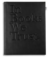 Black 'In Books We Trust' Cover for Kindle, Kindle Paperwhite & Kindle Touch